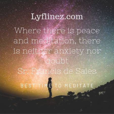 A person stood in darkness-best time to meditation