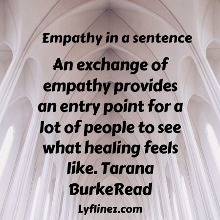 Empathy in a sentence-we should heal others pain
