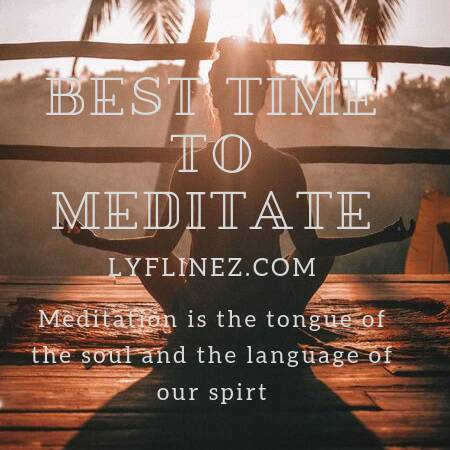 best time to meditate-a girl is meditating