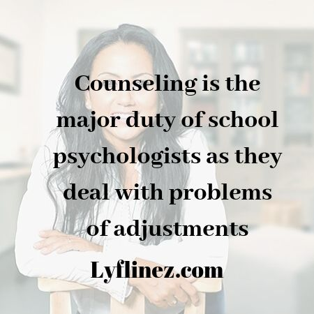 School psychologist vs school counselor-A girl sat at a chair