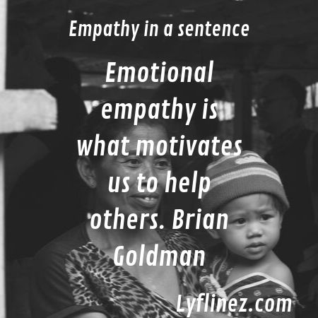 A woman hold his kid-empathy in a sentence