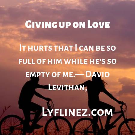 Giving up on love- a girl and a boy is riding cycles