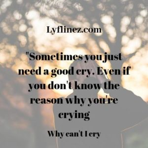 I can't cry-a boy is hiding his face with both hands