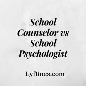 School counselor vs school psychologist