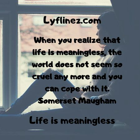 life is meaningless-Life is cruel