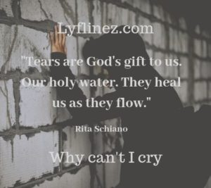 why can't i cry - a boy stand with wall