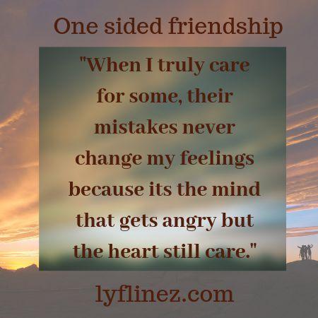 one sided friendship-pale sky